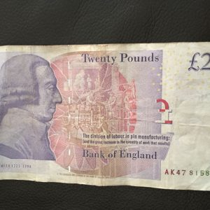Rare £20 note AK47 serial numbers