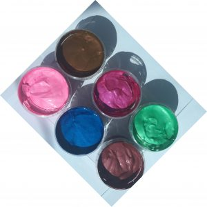 Pearlescent waterbased ink