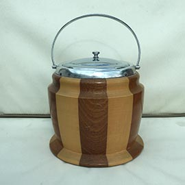 Banded Wooden Ice Bucket